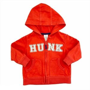 Carter's Boys Coral 'Hunk' French Terry Hoodie